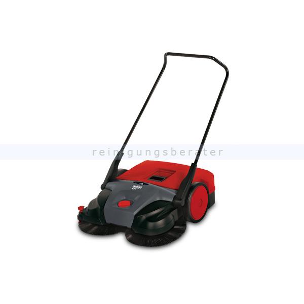 Haaga 677 iSweep elektrische Kehrmaschine Profi Akku Akku Kehrmaschine für große Flächen, Kehrleistung 3800 qm/h 100500/677400/095363