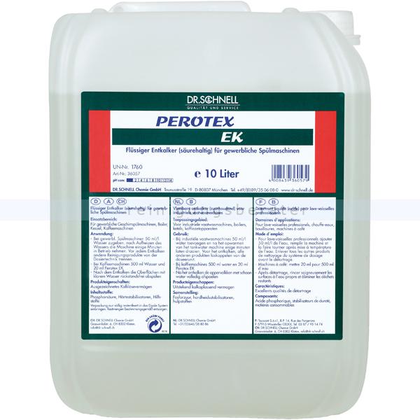 Dr. Schnell Perotex EK 10 L Entkalker flüssiger Entkalker für Geschirrspülmaschinen 36057