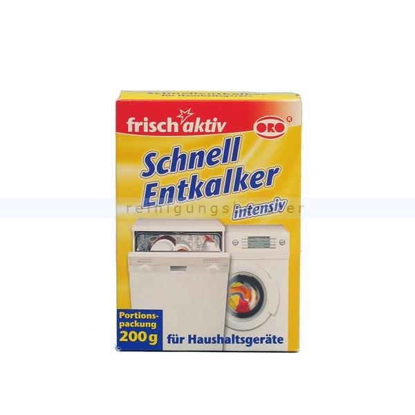 ORO-frisch-aktiv® Schnellentkalker Schnell-Entkalker-Pulver für alle Haushaltsgeräte 4235