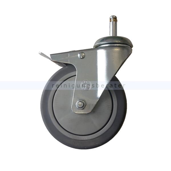 Ersatzräder und Rollen Numatic Laufrad mit Bremse 125 mm steckbar 629767