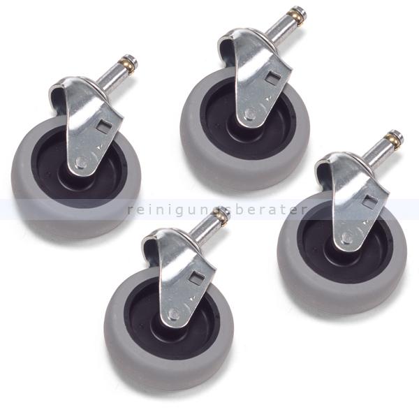 Ersatzräder und Rollen Numatic Lenkrollen 75 mm für MidMop 4 Ersatzräder grau 629882