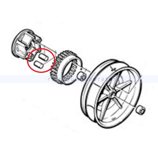 Cleanfix 077.234 Mitnehmerrolle natur für Kehrmaschine HS 770