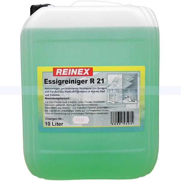 Reinex R21 10 L klassischer Reiniger auf Essigbasis, für den Sanitärbereich 191