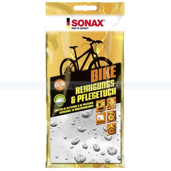 Fahrradpflege SONAX BIKE Reinigungs- & PflegeTuch 1 Stück Reinigungstuch für Rahmen, Speichen und Schutzblech 08520000
