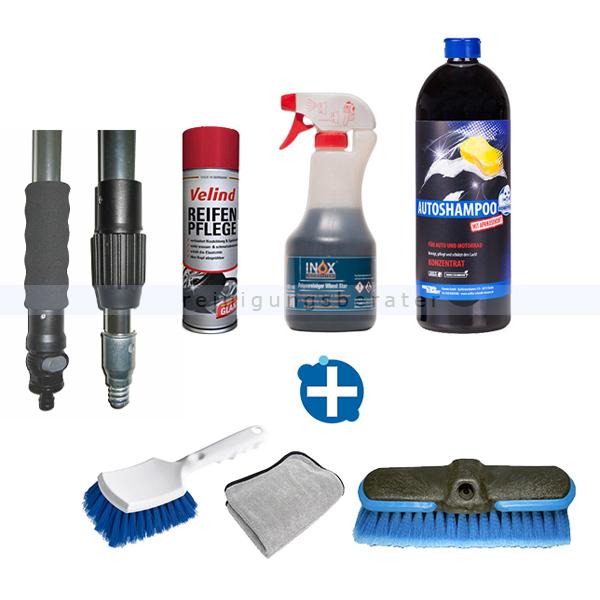 ReinigungsBerater Fahrzeugpflege Set für die Kfz Aussenreinigung 7-teiliges Autowaschset für Autoaussenreinigung
