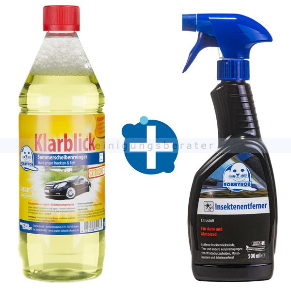 Fahrzeugpflege Set Scheibenreiniger und Insektenentferner