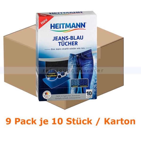 Heitmann Farb- und Schmutzfangtücher Jeans Blau 90 Tücher vergilbte und verblasste Jeans wird wieder strahlen 2560