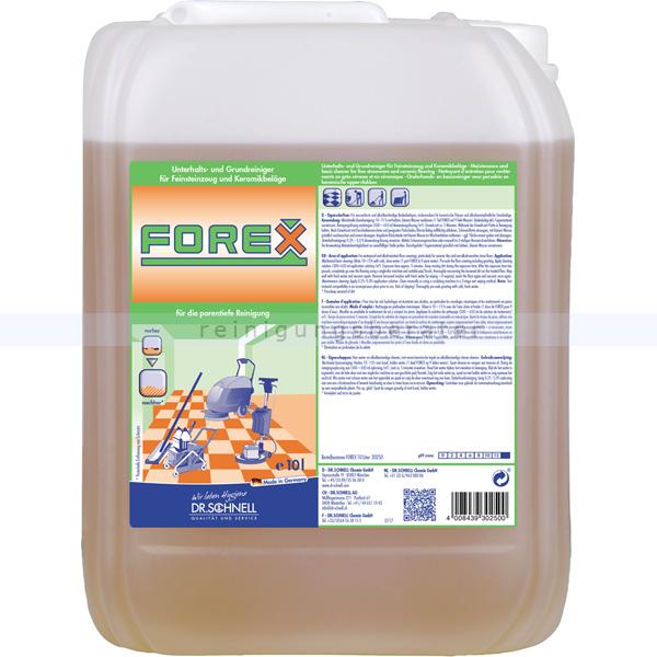 Dr. Schnell Forex 10 L Feinsteinzeugreiniger Intensivreiniger für Feinsteinzeug und Keramikbeläge 30250