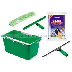 Fensterputz Set Glasreinigungs Set 5 teilig mit Handpad
