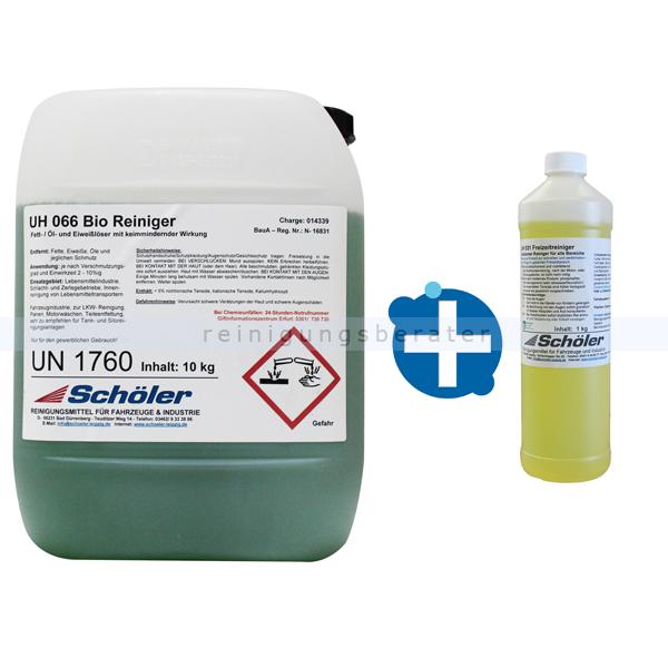 Schöler UH 066 Bio Reiniger 10 kg als Aktionsangebot mit GRATIS UH031 Freizeitreiniger 1 L siehe SL
