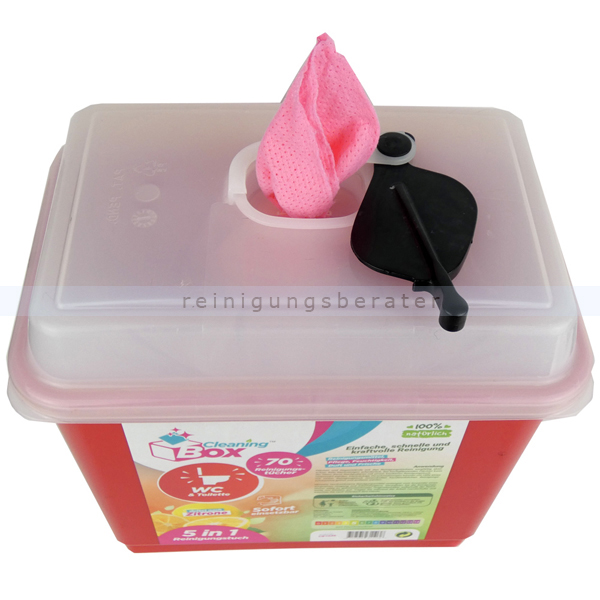 Feuchttuchspender CleaningBox 5-in-1 WC & Toilette 70er
