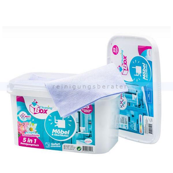 Feuchttuchspender CleaningBox WetCleanWipes 5-in-1 35 Stück