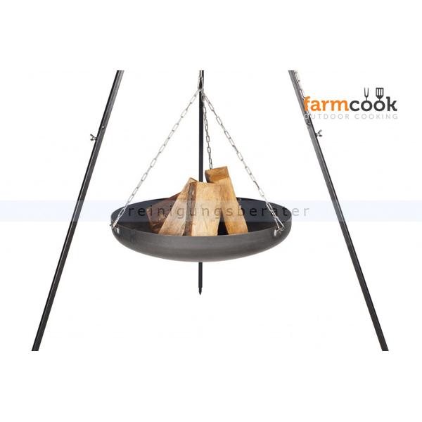 farmcook feuerschale h ngend an dreibein viking 70cm h0101. Black Bedroom Furniture Sets. Home Design Ideas