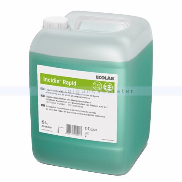 Flächendesinfektion Ecolab Incidin Rapid 6 L
