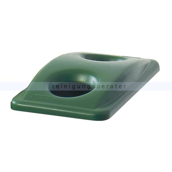 Flaschendeckel Rubbermaid grün für Slim Jim 60 und 87 L Deckel mit 2 Öffungen Rubbermaid Slim Jim 60 und 87 Liter 76147629