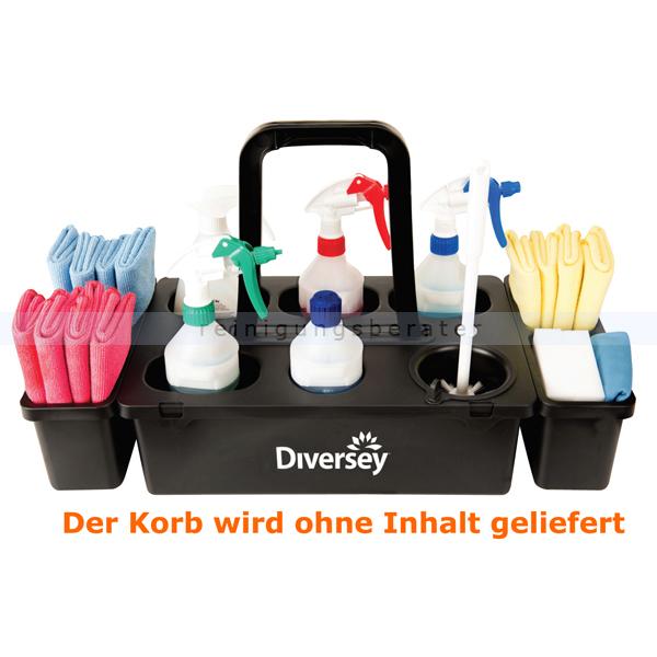 Flaschengestell Diversey Tragekorb Carry Tray schwarz stabiler Tragekorb, Polypropylen, OHNE Inhalt D7524356