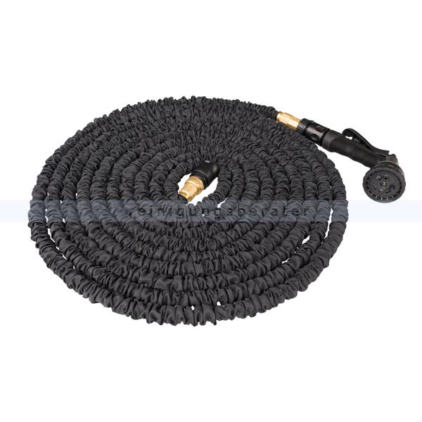 flexi black wachsender gartenschlauch 15 m mit spr hpistole. Black Bedroom Furniture Sets. Home Design Ideas