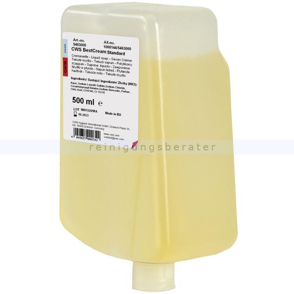 Flüssigseife CWS Best Cream standard, gelb 500 ml