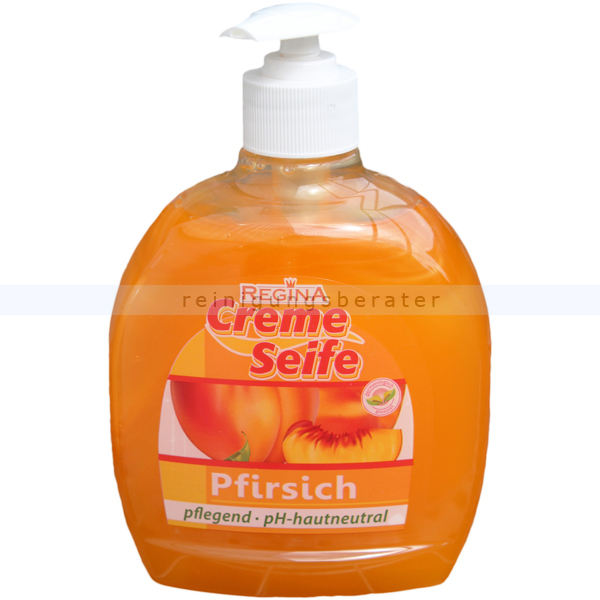 Flüssigseife in Seifenspender Reinex Pfirsich 500 ml Cremeseife in Dispenser-Flasche oder Dosierflasche 0332