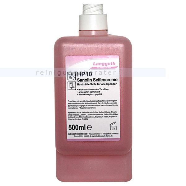 Langguth HP10 rose Sanolin 500 ml Flüssigseife Seifencreme Langguth 10086