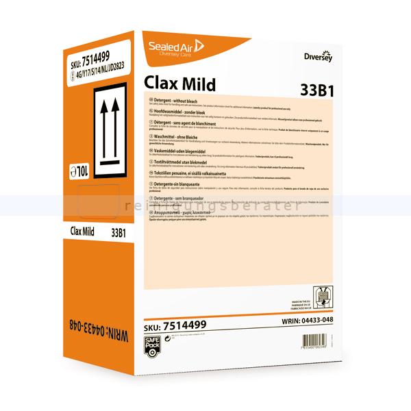 Flüssigwaschmittel Diversey Clax Mild 33B1 10 L Enzymatisches Feinwaschmittel 7514499