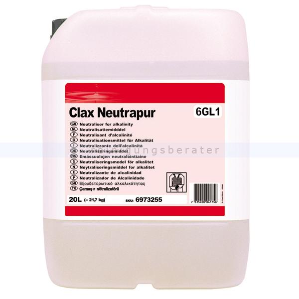 Diversey Clax Neutrapur 60A1 W87 20 L Flüssiges Neutralisationsmittel 100838012
