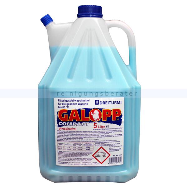Dreiturm Waschmittel Galopp Compact 5 L flüssiges Vollwaschmittel im Hochkonzentrat 3131