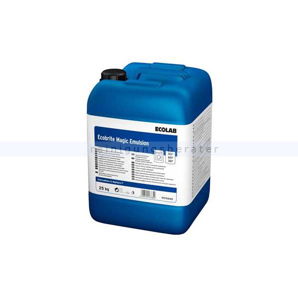 Ecolab Ecobrite Magic Emulsion 25 kg Flüssigwaschmittel hochkonzentriertes Alleinwaschmittel, phosphatfrei 9076840