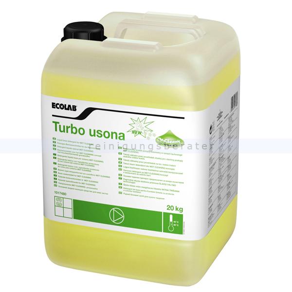 Ecolab Turbo Usona 20 kg Spezialwaschmittel flüssiges Spezialwaschmittel für Feinwäsche 1017480