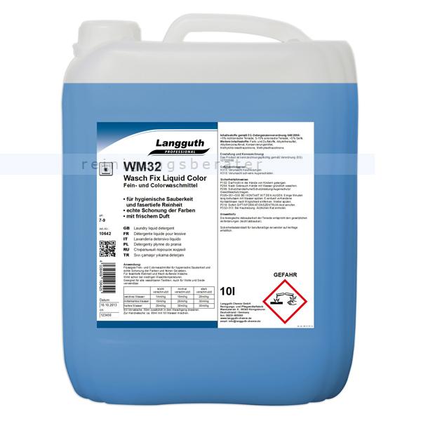 Langguth Wasch Fix Liquid Color WM 32 10 L Feinwaschmittel flüssiges Fein- und Colorwaschmittel 10642