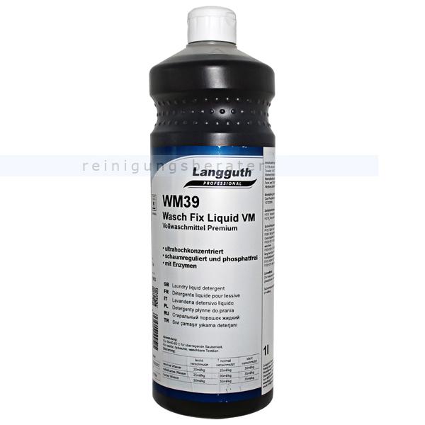 Langguth Wasch Fix Liquid VM WM 39 1 L flüssiges, phosphatfreies Vollwaschmittel 10952