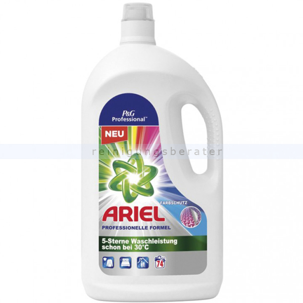 Procter and Gamble P&G Ariel Professional Color 74 WL 4,07 L Flüssigwaschmittel professionelles Colorwaschmittel für maximale Waschkraft PROFARI9921