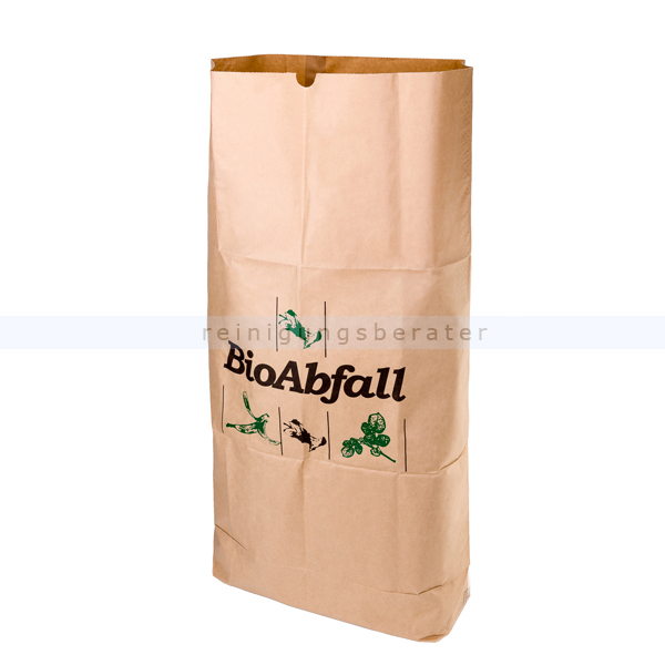 Gartenabfallsack Natura Biomat kompostierbar 120 L 2-lagig nassfest, biologisch abbaubar und kompostierbar PSG-80-ZF
