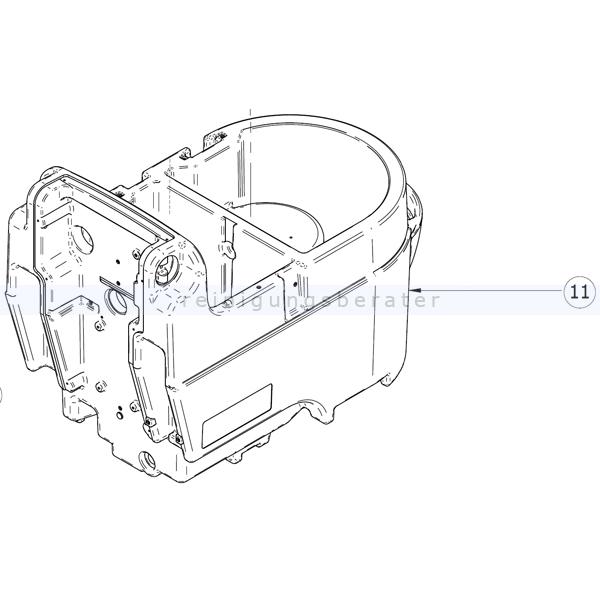 Gehäuseteile Lavor Tank grau ohne Abdeckung für Speed 45 B