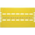 Gelbe Klebefolien aus Correx für das Visu Suspended 40/80