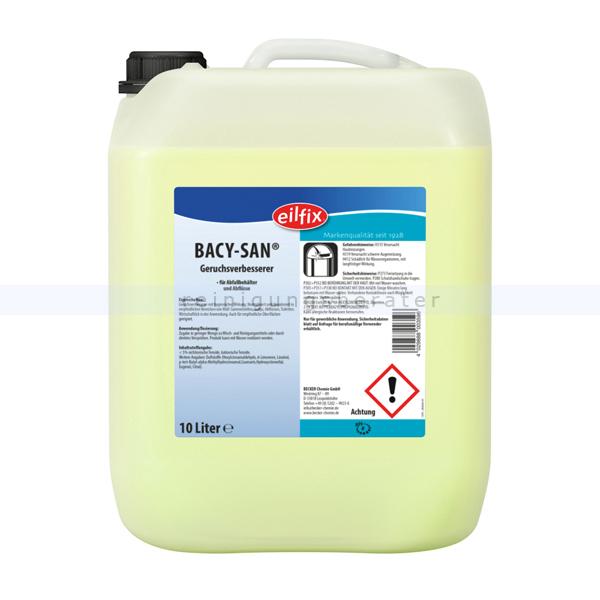 Becker Chemie Eilfix Geruchskiller BACY-SAN 10 L Geruchskiller mit keimhemmender Wirkung 100052-010-000