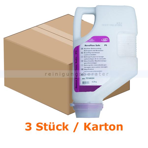 Diversey Suma RevoFlow Safe P9 3 4,5 kg Kartuschen Aluminiumsicherer Reiniger, Karton mit 3 Kartuschen 7514624