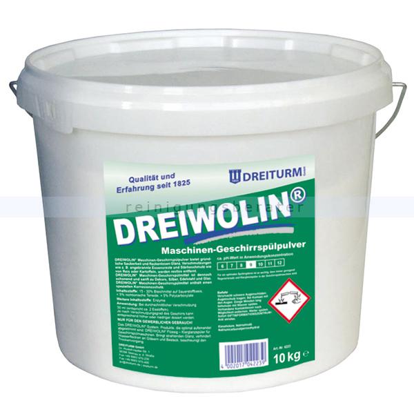 Dreiturm Dreiwolin 10 kg Geschirrspülpulver mit speziellen Korrosionsschutz 4223