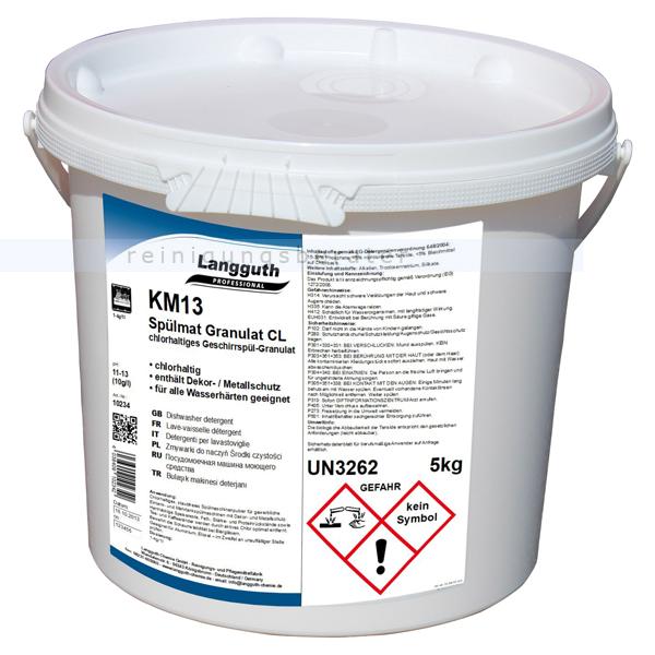 Geschirrspülpulver Langguth KM13 Spülmat Granulat CL 5 kg