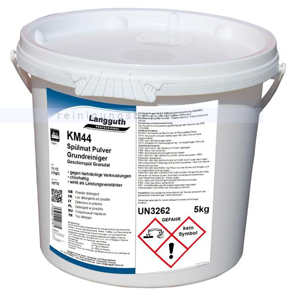 Langguth KM44 Spülmat Pulver 5 kg Geschirrspülpulver Spezialpulver zur Intensivreinigung von Geschirr 10778