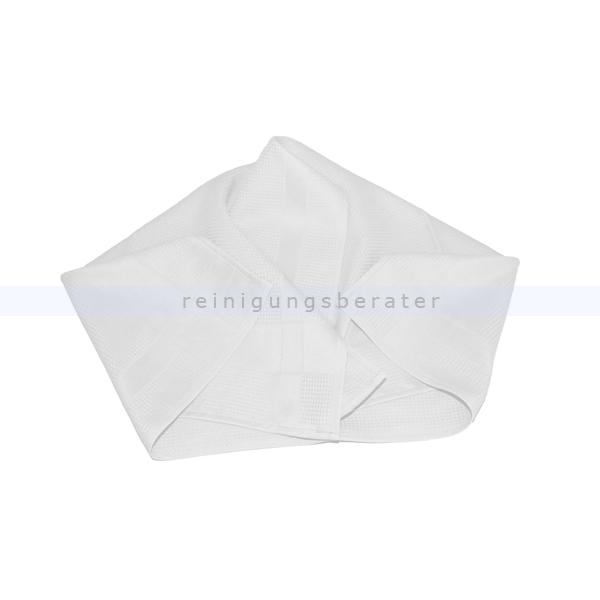 Geschirrtuch Meiko Microfaser 50x70 cm 1 Tuch weiß Ideales Poliertuch besonders für Gläser 509013