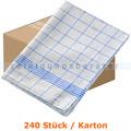 Geschirrtuch Mopptex Baumwolltuch 50 x 70 cm 60g blau Karton