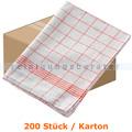 Geschirrtuch Mopptex Baumwolltuch 50 x 70 cm 80g rot Karton