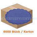 Glas- und Tassenuntersetzer 6-lagig blau 9 cm