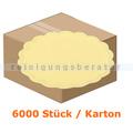 Glas- und Tassenuntersetzer 6-lagig gelb 9 cm