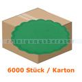 Glas- und Tassenuntersetzer 6-lagig, grün 9 cm