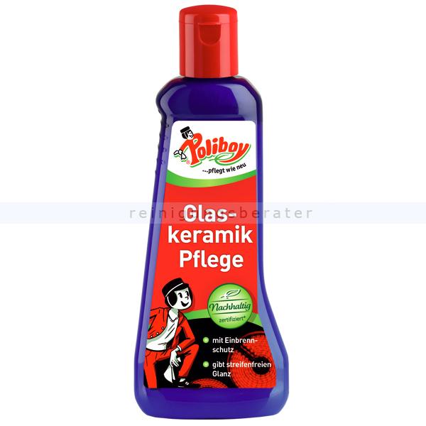 Poliboy Glaskeramikpflege 200 ml Glaskeramikreiniger Pflege mit Einbrennschutz 2720001