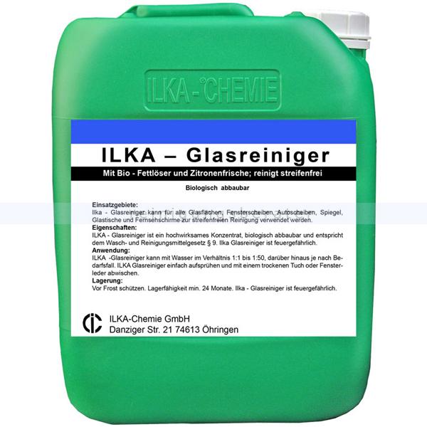 ILKA Chemie Glasreiniger ILKA 10 L Mit Bio-Fettlöser und Zitronenfrische 9000010