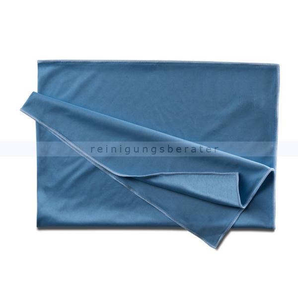 Glastuch filsain Poliertuch Gläsertuch blau 50 x 70 cm Matrixfaser, ungeschlagen in der Reinigungsleistung 200846