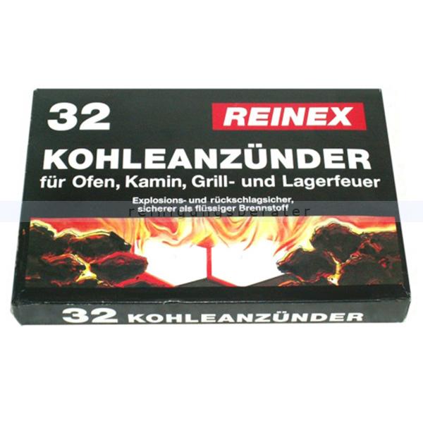 Grillanzünder Reinex 32 Stück Kohleanzünder für Grill, Ofen, Kamin und Lagerfeuer 211